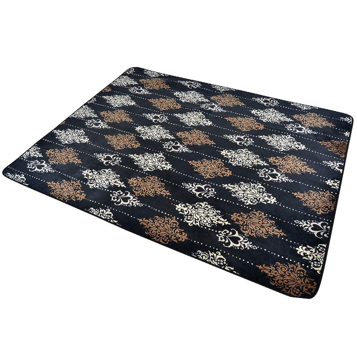 ボタン基本的なスクラップOSJ カーペット 洗えるラグ 抗菌防臭 年中使える 床暖房対応 おしゃれ コーヒー 190×240