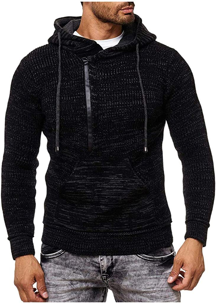 Men's Knitted Sweater Pullover Hoodies Warm Soft Top for Autumn Winter