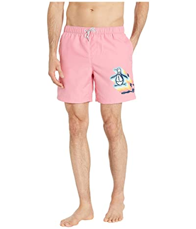 Original Penguin Big Layered Pete Non-Stretch Swim Shorts (Confetti) Men