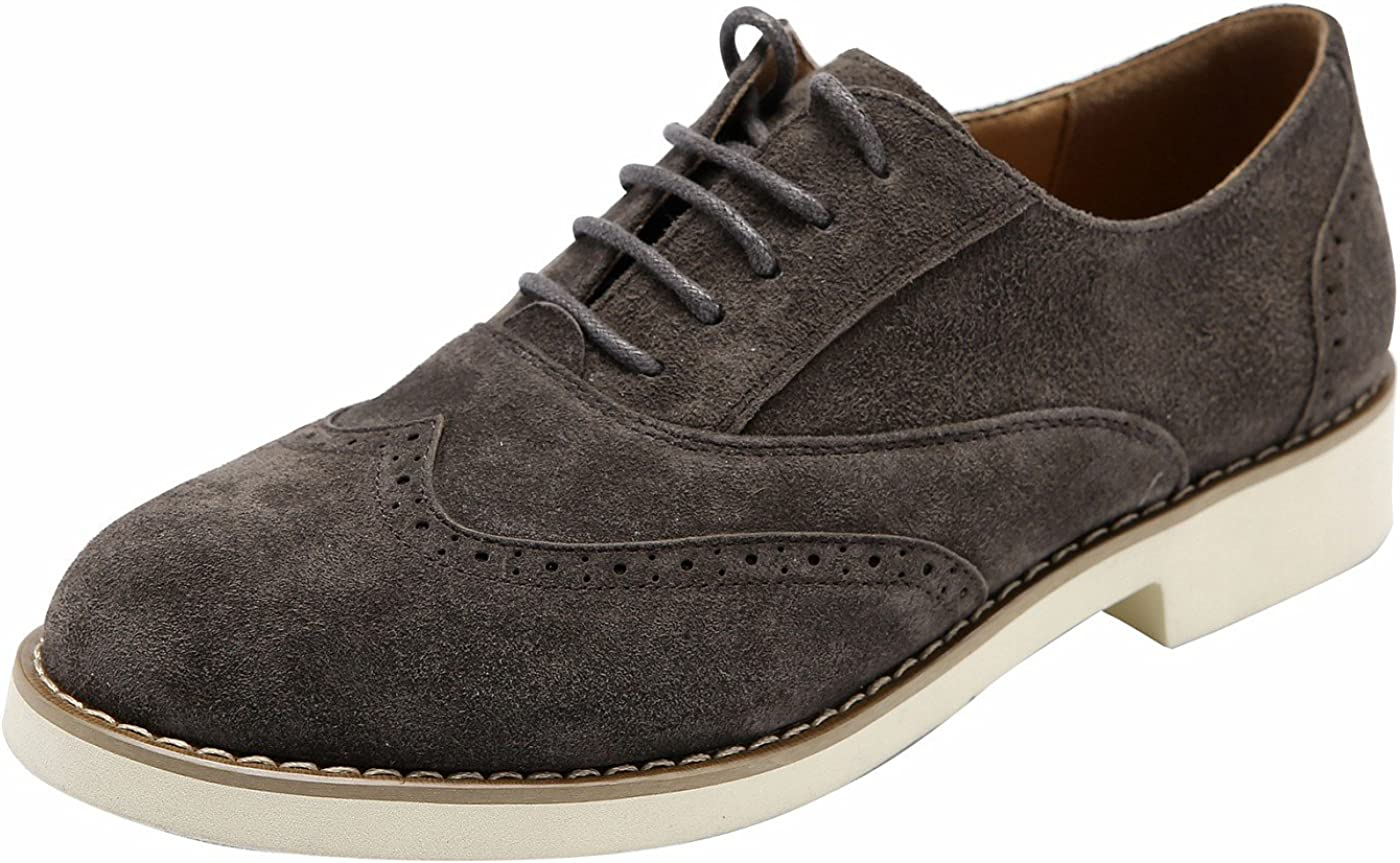 Ulite Womens Solid Austin Mall Color Perforated Lace-up Long Beach Mall Suede Casual Leather