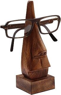 "SUNSHINE 1 6"" Witty Mango Wood Polish Wooden Spectacle Holder - Nose Shaped Eyeglass Holder Display Stand - Desktop Access..."