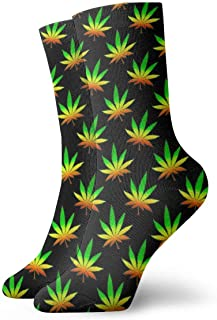 Jhonangel, Niños Niñas Locos Divertidos Calcetines de marihuana Weed Cute Novedad Calcetines de vestir