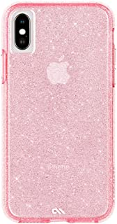 Case-Mate - iPhone X Case - Sheer Crystal - Twinkling Glass Crystal - Fashion Cell Phone Case - iPhone 10 - Crystal Pink