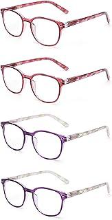 JM Gafas de Lectura Conjunto de 4 Calidad Bisagras de Resorte Lectores Hombre Mujer Anteojos Para Leer