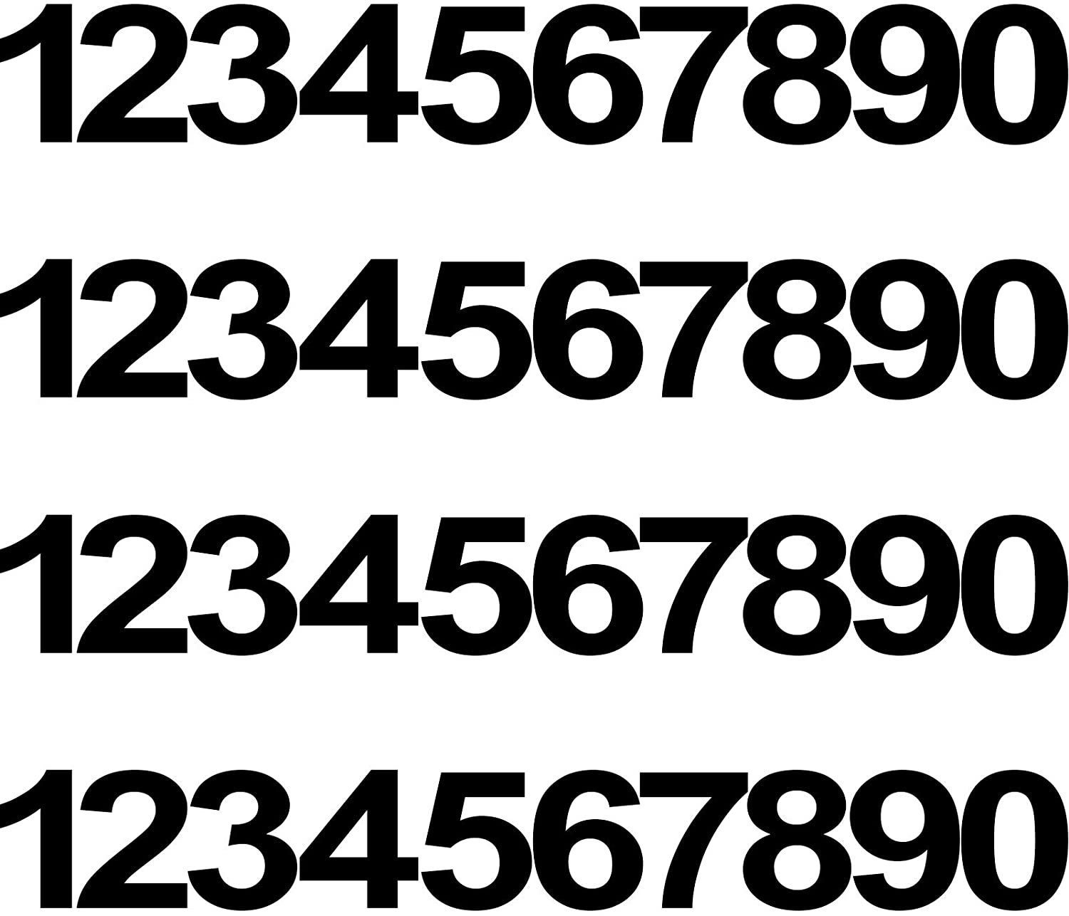 Superior 40 Pieces Bargain sale 4 Sets Vinyl Mailbox Waterproof Number Numbe Stickers