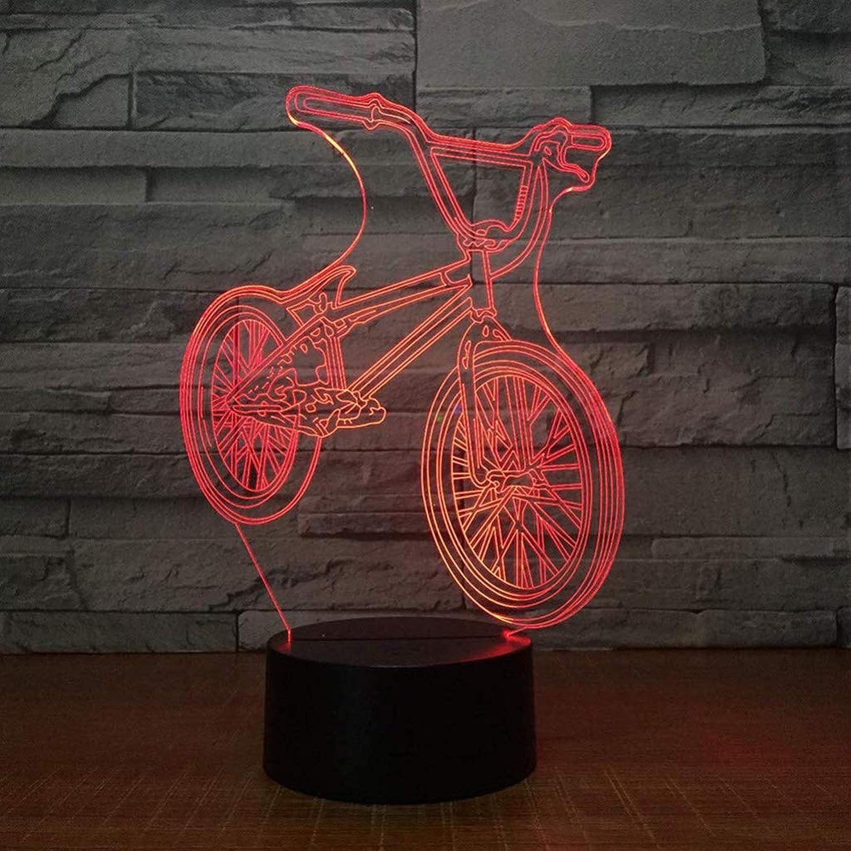 Happy Together Tischlampe des Mountainbike 3D Aufladungsnachtlichts der visuellen Persnlichkeit der bunten Note Aufladen