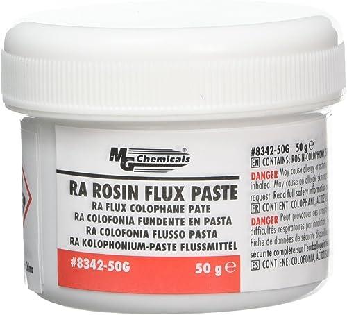 MG Chemicals 8342 RA Rosin Flux Paste, Amber, 50 g Jar (8342-50G)