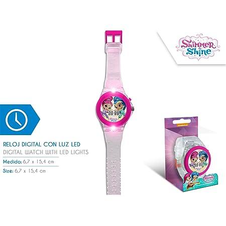 Disney–Reloj Digital Shimmer and Shine con luz led - SH17024