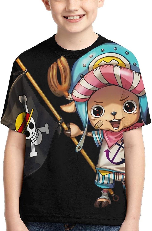 One Piece Tony Tony Chopper Shirts Crew Neck Children's Anime T-Shirt Funny T Shirt Tops