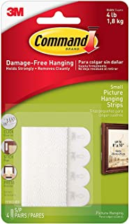 Command Picture Hanging Strips, Small, White, 8-Strips Each, 3 pack by Command