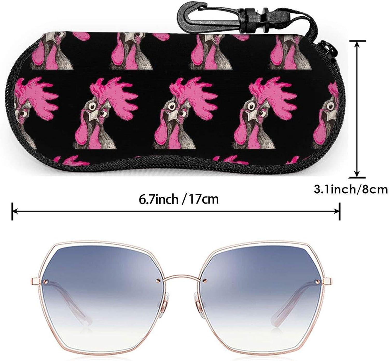 Men Women Sunglasses Soft Case Zipper Eyeglass Case Protective Holder With Belt Clip