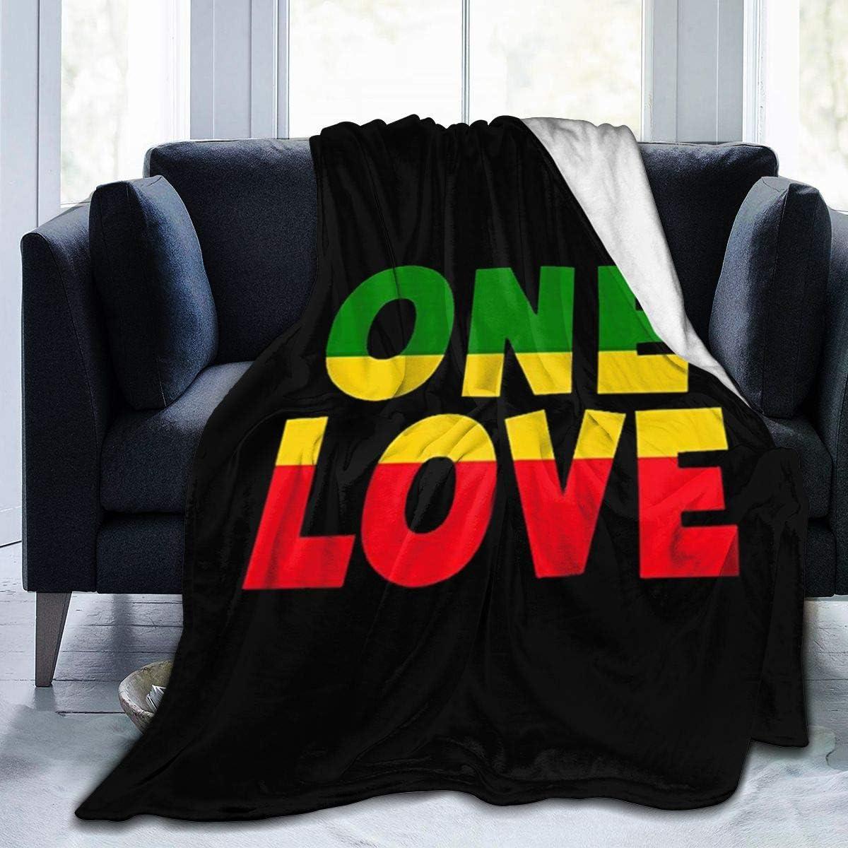 QINQI One 世界の人気ブランド Love Rasta ColorsUltra 年中無休 Fleece Micro Soft Blanket Light