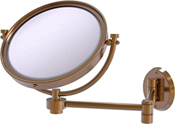 Allied Brass WM-6/2X 8 Inch Wall Mounted Make-Up Mirror