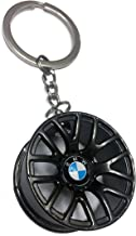 BMW Hot Racing Wheel Rim Zinc Alloy Keychain
