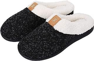 Women's Comfort House Slippers Fleece Memory Foam Slip on Warm Shoes Indoor Outdoor Use