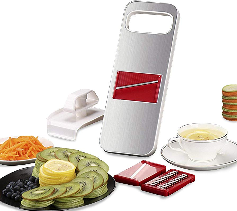 Mandoline Slicer Magnetic 3 In 1 Vegetable Grater Is Made Of Premium Stainless Steel With Finger Guard
