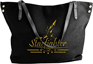 Air Force F-104 Starfighter Women's Tote Bags Canvas Shoulder Bag Casual Handbags