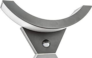 HUBER Applique murale LED avec détecteur de mouvement 140° 10 W 800 lm I Lampe extérieure LED protégée IP54 avec détecteur...