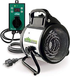 Bio Green Pal 2.0 Elektrisk Luftvärmare med Digital Termostat, Svart-Grön