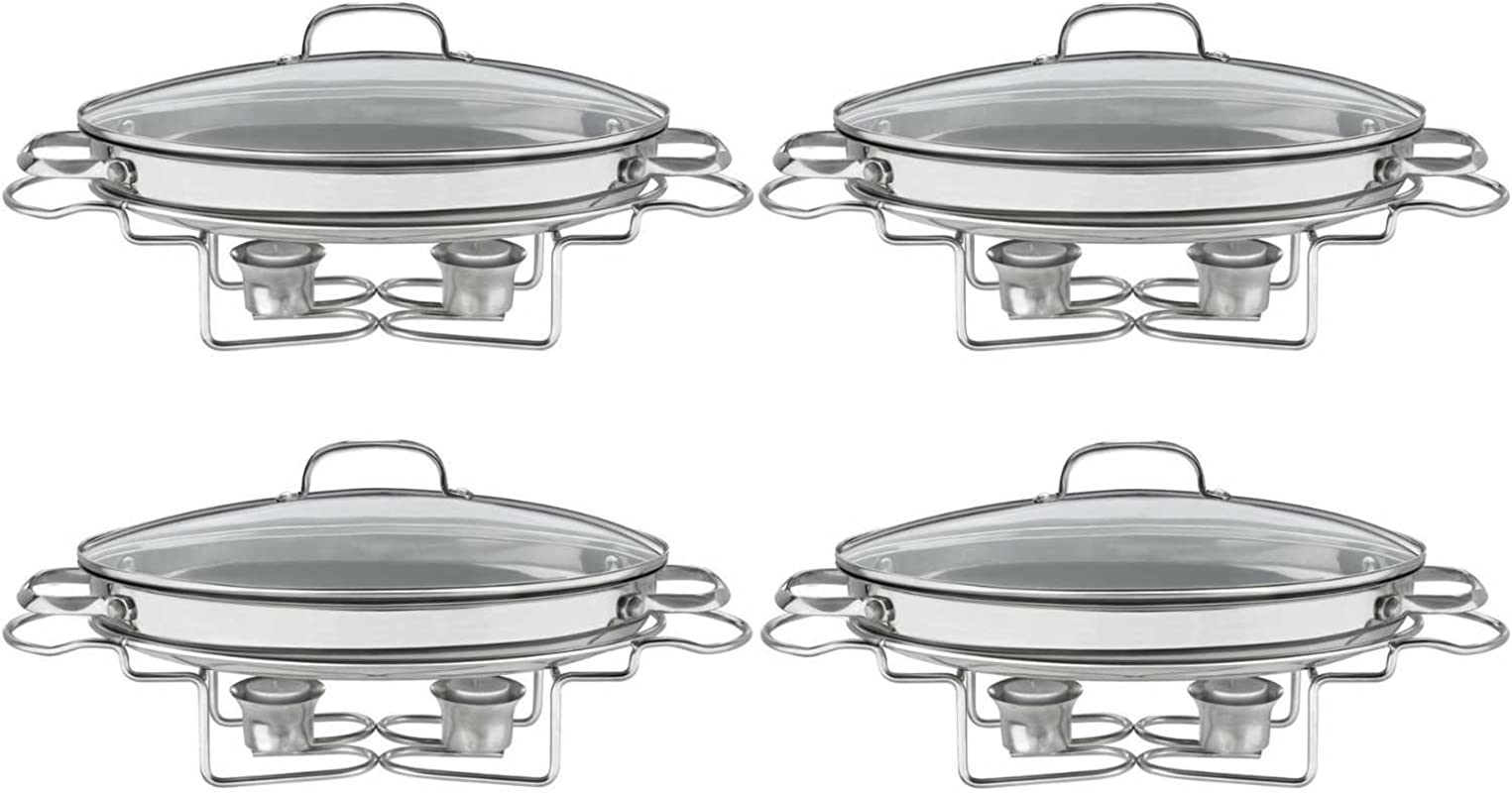 Cuisinart 7BSO 34 Stainless 13 1 2 Inch Oval Buffet Servers 4PK