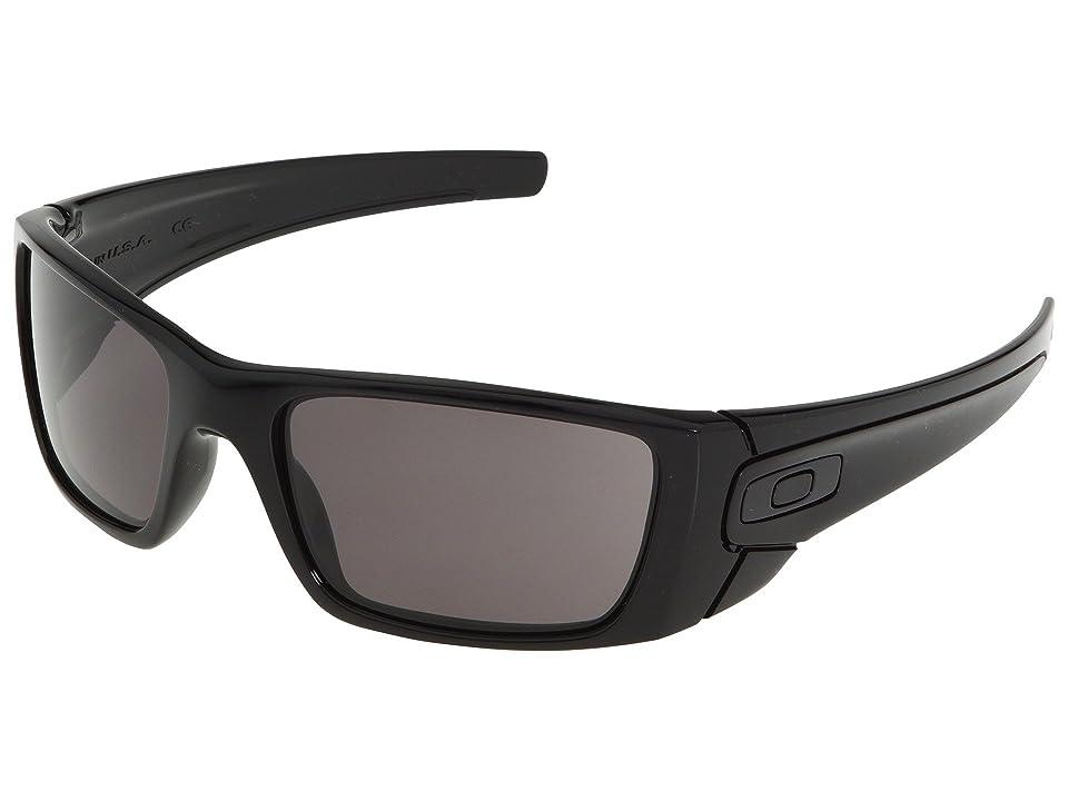 Oakley Fuel Celltm (Polished Black/Matte Black/Warm Grey Lens) Sport Sunglasses