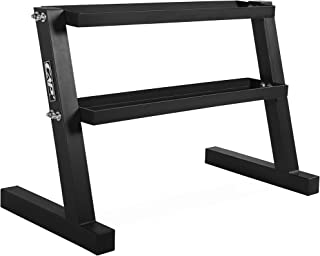 CAP Barbell Kettlebell Set with Storage Rack