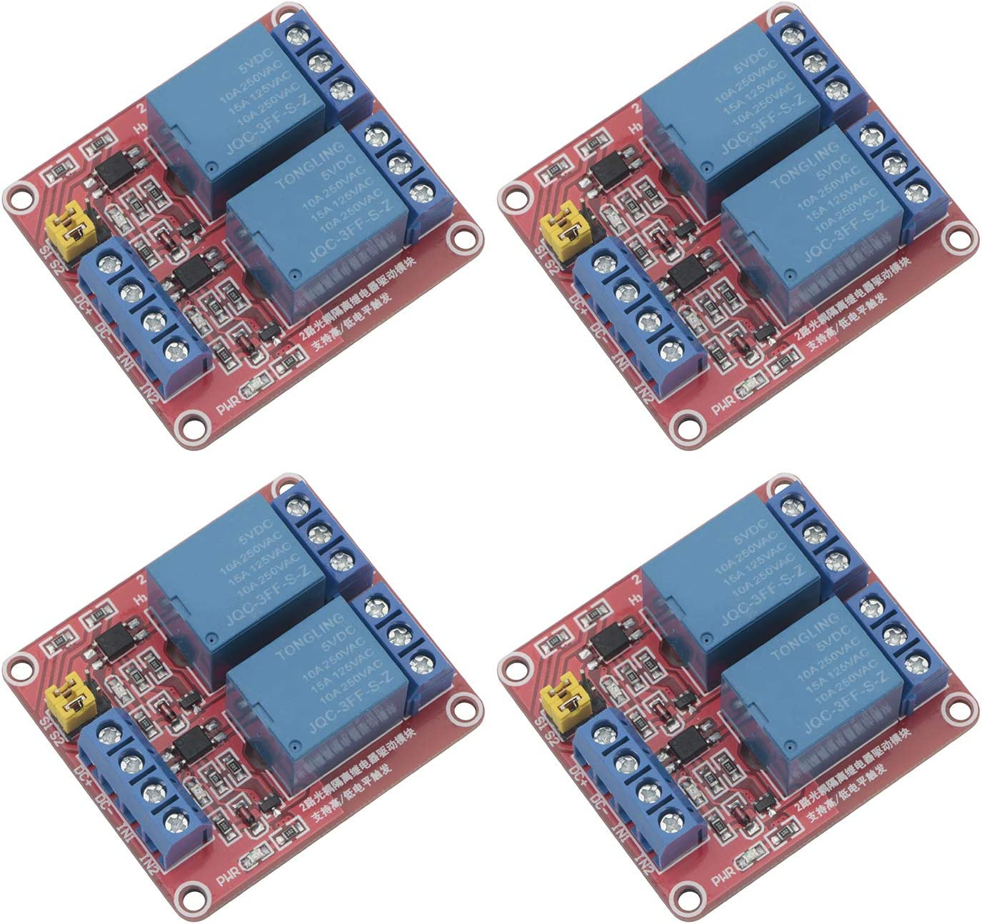SenMod 4PCS 5V 2-Channel Optical Module isolation Max 49% OFF coupling Relay Award-winning store