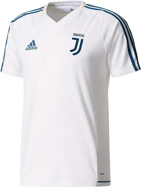 adidas Juve TRG JSY Camiseta Entrenamiento Juventus 2017-2018, Hombre, Blanco/azunoc/dorfue, S: Amazon.es: Deportes y aire libre