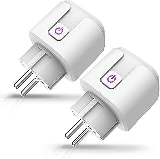 Smart stopcontact, intelligent wifi-stopcontact, Amazon stekker met timer, timerfunctie en afstandsbediening, wifi-stopcon...