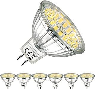 EACLL Bombillas LED GU5.3 4000K Blanco Neutro MR16 12V 5W 500 Lúmenes Spotlight Equivalente 50W Halógena. 120 ° Luz Blanca Neutra Natural Lámpara Reflectoras, Pack de 6