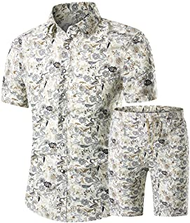 mydeshop Men Printed Short Sleeve Fashion Hip-hop Shirt