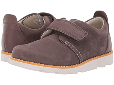 Clarks Kids Crown Park (Toddler) (Brown Leather) Boy
