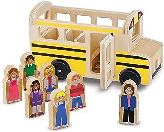 Wooden School Bus 8-Piece Play Set + FREE Melissa & Doug Scratch Art Mini-Pad Bundle [93958]