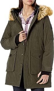 jacket with big fur hood