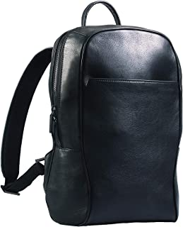 Maruse Italian Leather Laptop Backpack for Women and Men, Commuter and Carry On Travel Bag, Handmade in Italy