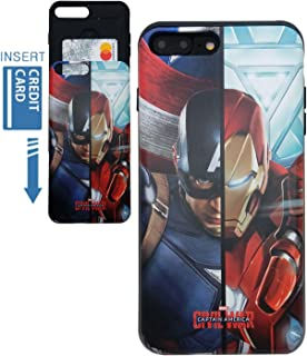 [iPhone 7 Plus Wallet Case/iPhone 8 Plus Wallet Case] KUBRICK Card Holder Slide Cover Bumper Phone Case Dual Layer Protection UV Printing (Civil War)