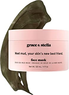 Grace & Stella Dead Sea Mud Mask - Vegan - Purifying Clay Mask For Deep Pore Cleansing Acne Treatment (120ml)