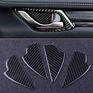 4pcs Carbon Fiber Inner Door Handle Cup Bowl Cover Trim Sticker Fit For Mazda 3 6 CX-5 CX-3 CX-8 CX-9 2016 2017 2018