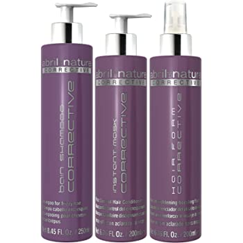 abril et nature Corrective Treatment Pack Champu + Mask + Spray: Amazon.es: Belleza