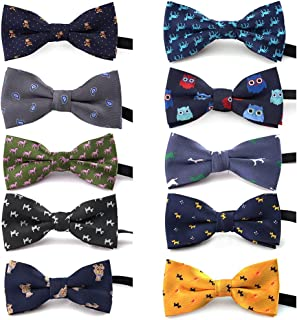 TOPTIE Adjustable Dog Bow Ties Collar Pet Bowties Neckties for Party Grooming Accessories