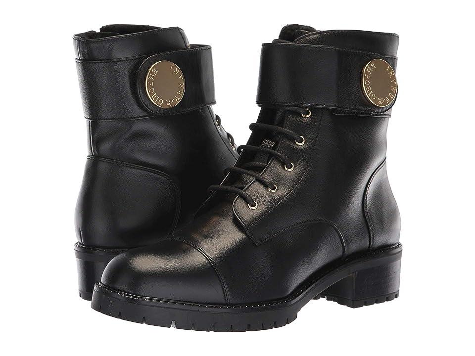Emporio Armani Calf Leather Boot (Black) Women