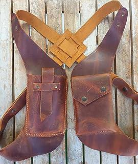 Double Shoulder Armpit Bag, Steampunk Medieval PU Leather Anti-Theft Hidden Underarm Strap Wallet Phone Holster Bag Pouch ...