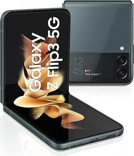 هاتف جالكسي زي فليب 3 ثنائي شريحة الاتصال - ذاكرة 256 GB وذاكرة رام 8 GB، الجيل الخامس، اخضر (اصدار المملكة العربية السعودية) من سامسونج