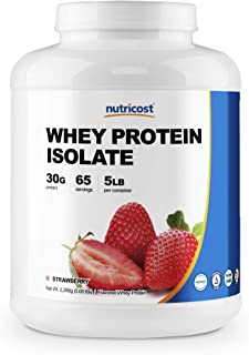 Nutricost Whey Protein Isolate (Strawberry) 5LBS
