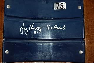 Dallas Cowboys Texas Stadium Larry Allen #73 Pro Bowl ROH AUTOGRAPHED Seat Back
