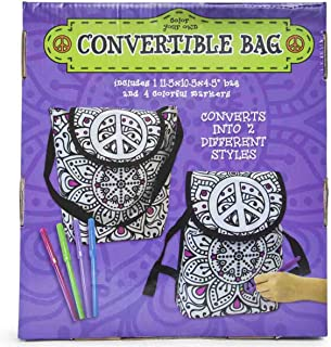 Colour Your Own Convertible Tote Bag Backpack Napsack Kit - Peace Design