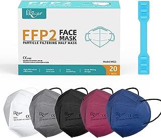 KKmier Mascarilla FFP2 Mascarillas (20 Pizas) Máscaras Desechables Mascarillas autofiltrantes de partículas de Protección ...