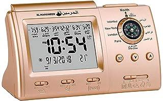 DYJD Numérique Automatique Islamique Horloge Azan Muslim Prayer Alarm Clock Table Automatique Affichage LCD Eid Cadeau Ram...