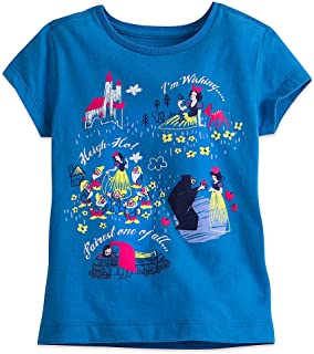 Disney Snow White and The Seven Dwarfs Tee for Girls Blue