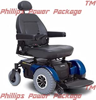 Pride Mobility - Jazzy 1450 - Heavy Duty Power Chair - Jazzy Blue - PHILLIPS POWER PACKAGE TM - TO $500 VALUE
